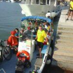 trasferimento in barca